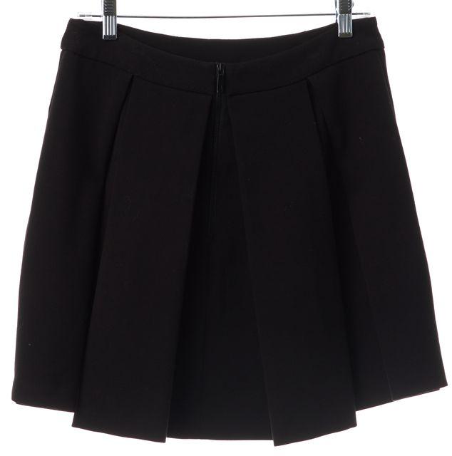 RACHEL ZOE Black Pleated Skirt