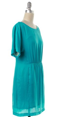 RAG & BONE Blue Short Sleeve Blouson Dress