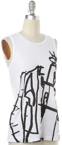 RAG & BONE White Black Graphic Tank Top