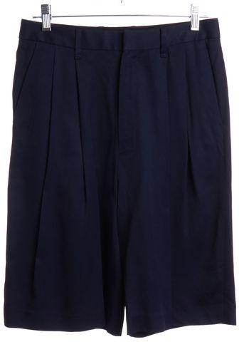 RAG & BONE Navy Blue Pleated Dress Shorts