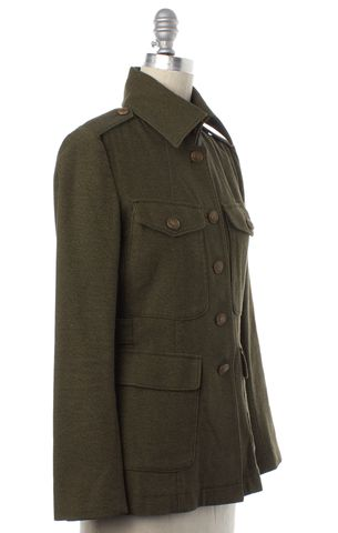 RAG & BONE Olive Green Button Down Jacket Size 2
