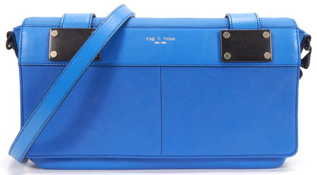 RAG & BONE Bright Blue Leather Pilot Crossbody Bag