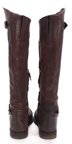 RAG & BONE Brown Pebbled Leather Knee High Boots