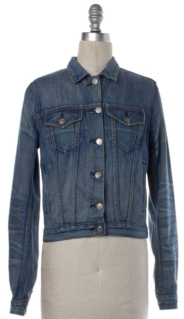 RAG & BONE Blue Denim Button Down Jacket