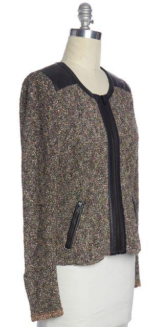 RAG & BONE Brown Black Multi Color Tweed Knit Jacket