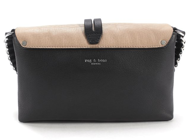 RAG & BONE Black and Tawny Leather Enfield Crossbody Mini Bag