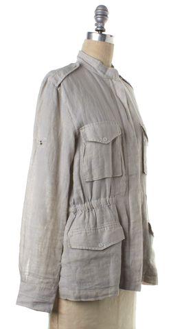 RAG & BONE Gray Linen Military Style Light Jacket