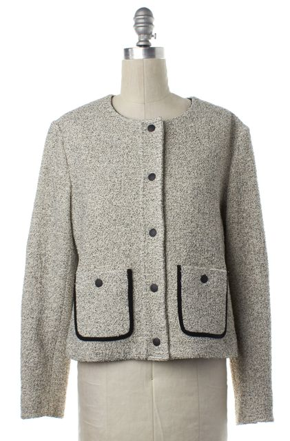RAG & BONE White Black Tweed Button Down Basic Jacket