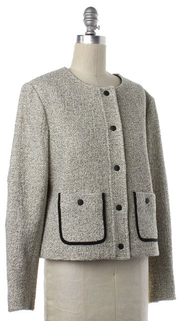RAG & BONE White Black Tweed Button Down Basic Jacket