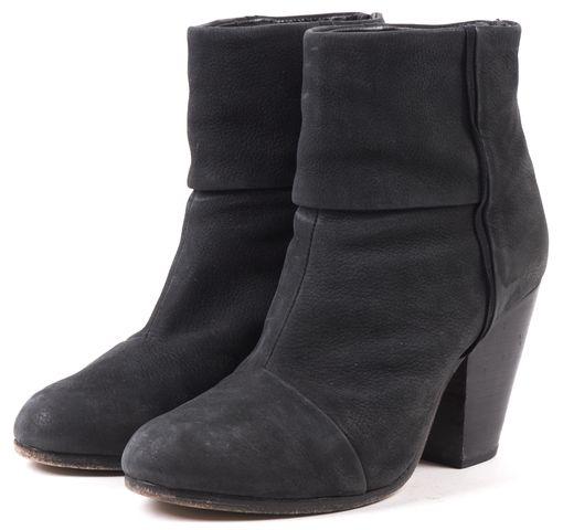 RAG & BONE Gray Asphalt Suede Classic bury Ankle Boots