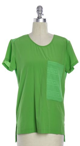 RAG & BONE Lime Green Large Pocket Blouse