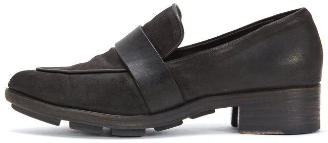 RAG & BONE Black Brushed Leather Loafers