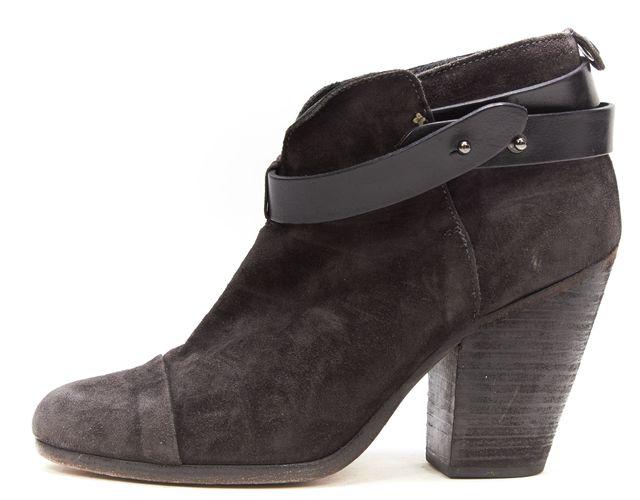 RAG & BONE Black Suede Leather Harrow Ankle Boot