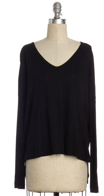 RAG & BONE Black Basic Long Sleeve Knit Top