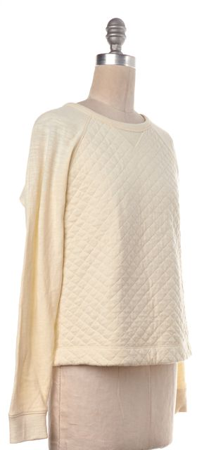 RAG & BONE Ivory Quilted Almond Rein Sweatshirt