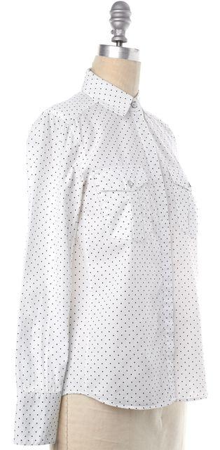 RAG & BONE White Black Star Print Cotton Button Down Shirt