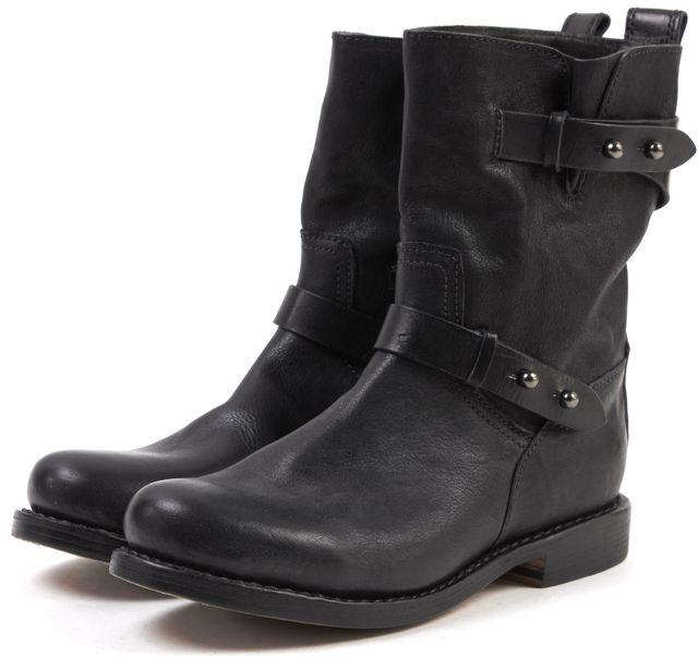 RAG & BONE Black Leather Moto Boots
