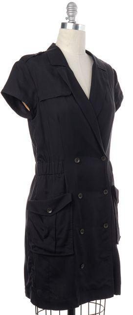 RAG & BONE Black Silk Trench Coat Style Dress