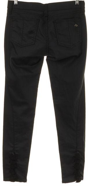 RAG & BONE Black Coated Tassel Skinny Jeans