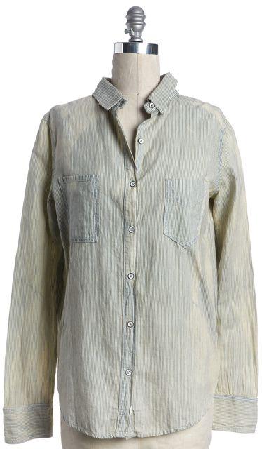 RAG & BONE Sun Bleach Blue Striped Button Down Shirt