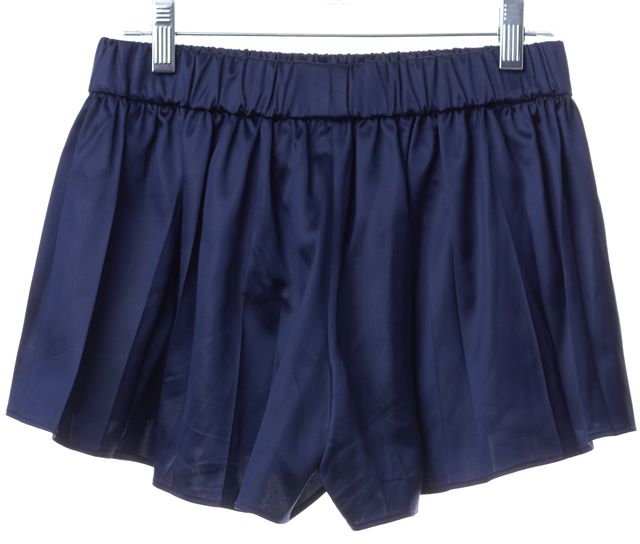 RAG & BONE Blue Silk Ruffled Mini, Short Shorts