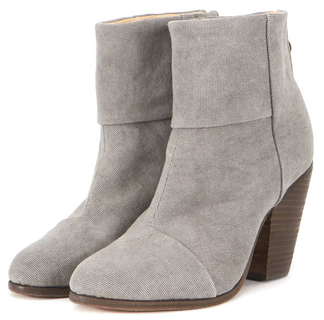 RAG & BONE Gray Canvas bury Ankle Boots