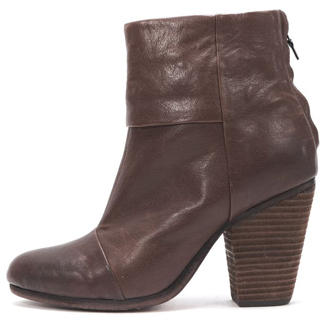 RAG & BONE Brown Leather bury Ankle Boots
