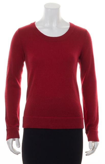 RAG & BONE Red Cashmere Scoop Neck Long Sleeve Knit Sweater Top