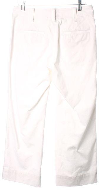 RAG & BONE White Cotton Mid-Rise Cropped Straight Leg Jeans
