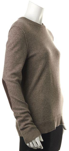 RAG & BONE Brown Wool Crewneck Patched Elbow Sweater