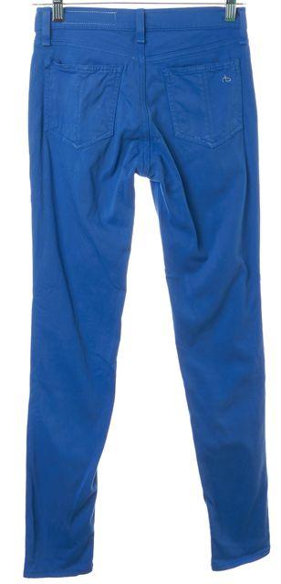 RAG & BONE Liza Blue Soft Denim Skinny Leg Capri Jeans