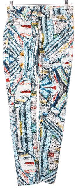 RAG & BONE Multi-Color Surf Knit Printed Denim Skinny Leggings Jeans