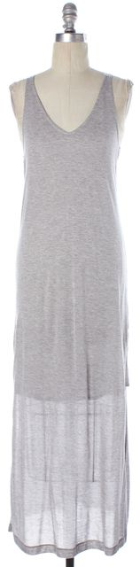 RAG & BONE Heather Gray Grosgrain Straps Side Slits Malibu Tank Dress
