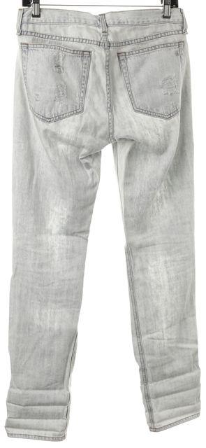 RAG & BONE Blue Rebel Bleach Distressed Boyfriend Jeans