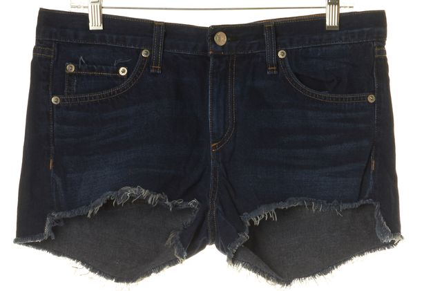 RAG & BONE Blue Mini, Short Whiskered Jean Shorts