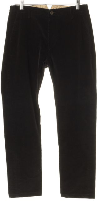 RAG & BONE Black Corduroy Slim Fit Skinny Ankle Pants