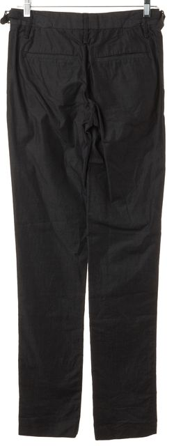 RAG & BONE Gray Cotton Waist Side Buckles Slim Trousers Pants