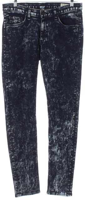 RAG & BONE Blue Acid Wash Mid-Rise Skinny Jeans