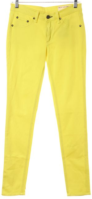 RAG & BONE Yellow Stretch Soft Denim Leggings Jeans