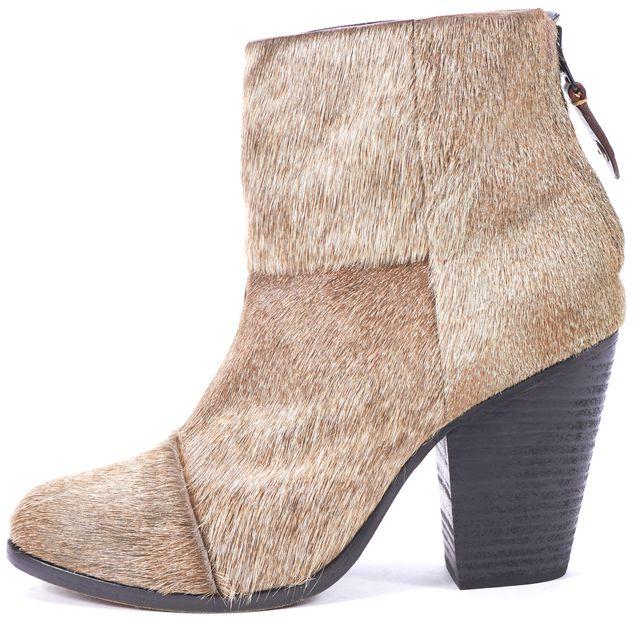 RAG & BONE Brown Calf-Hair bury Ankle Boots US 7 EU 39.5