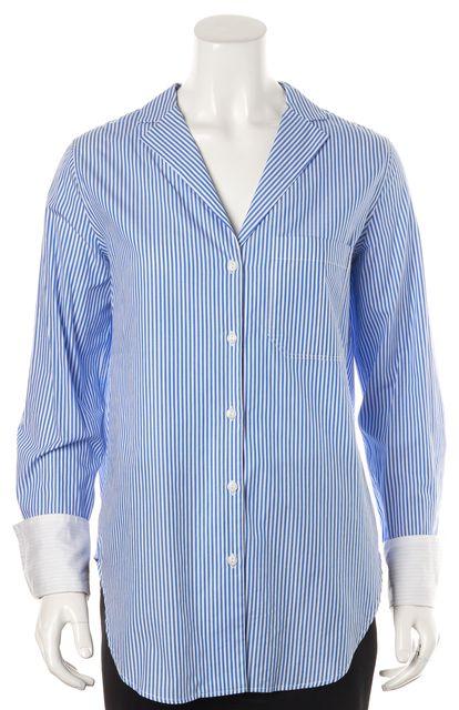 RAG & BONE Blue Striped Long Sleeve Button Down Casual Top