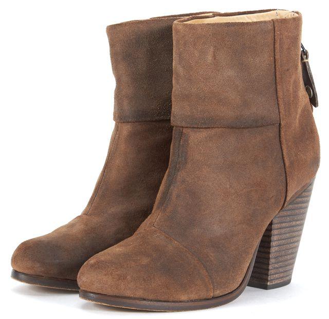 RAG & BONE Medium Brown Suede High Heel Ankle Boots