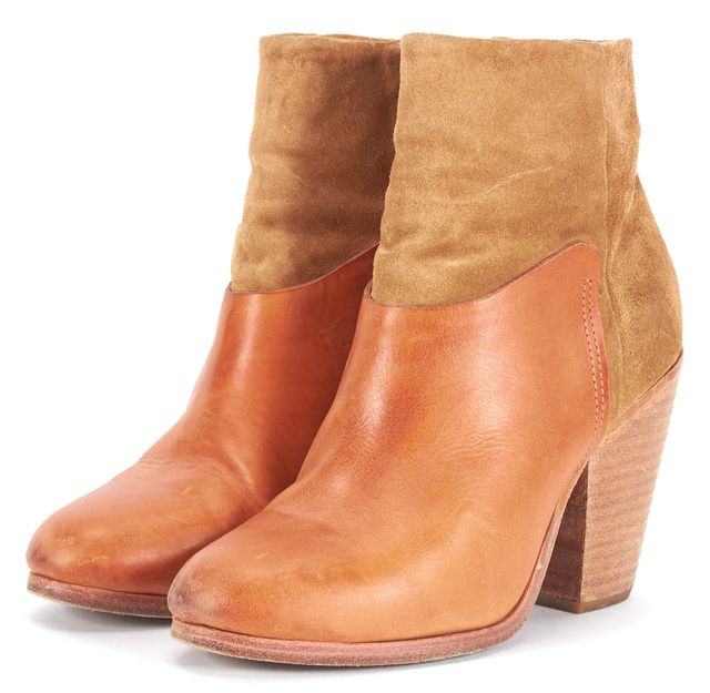 RAG & BONE Tan Brown Suede Leather Ankle Boots