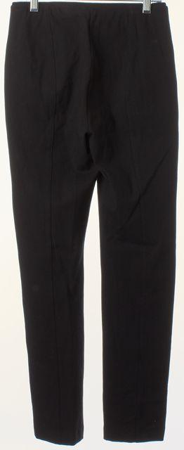 RAG & BONE Black Stretch Cotton Exposed Front Zip Skinny Leggings Pants