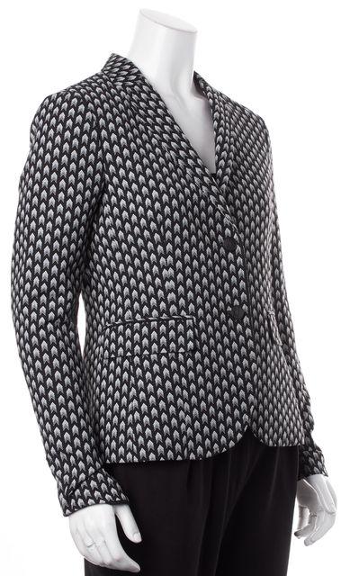 RAG & BONE Black White Herringbone Graphic Blazer