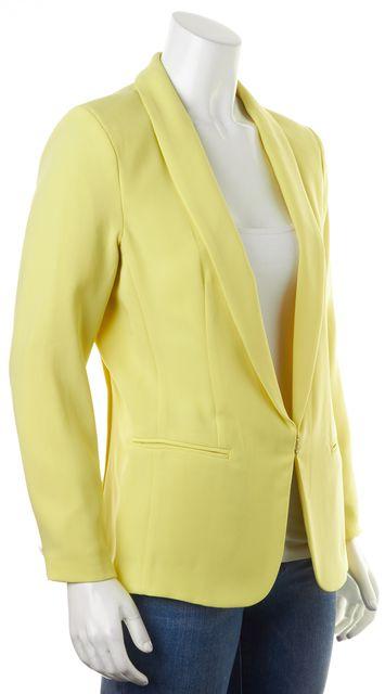 RAG & BONE Yellow Sliver Tuxedo Hook-And-Eye Closure Blazer Jacket