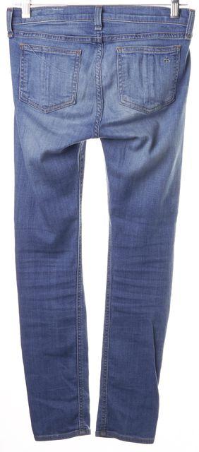 RAG & BONE Light Wash Blue Clean Kilbowie Capri Skinny Jeans