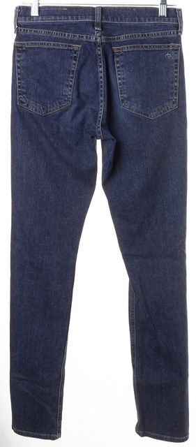 RAG & BONE Worn Blue Stretch Denim 10 Inch Dre Skinny Boyfriend Jeans