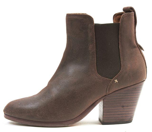 RAG & BONE Brown Leather Walker Block Heeled Ankle Boots