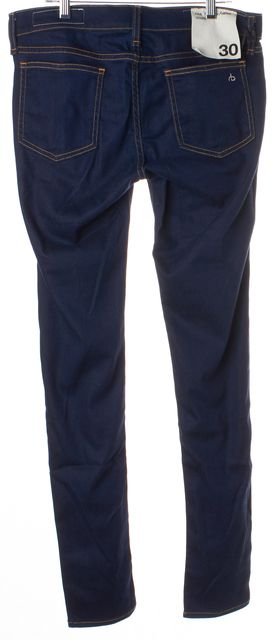RAG & BONE Blue Dark Wash Mid-Rise Skinny Legging Jeans
